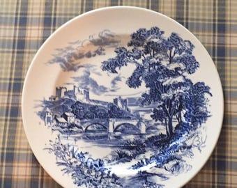 Wedgwood Enoch Blue Transferware Countryside Dinner Plate