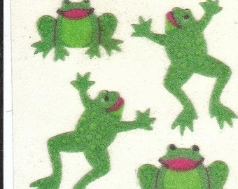 ON SALE Vintage Sandylion Fuzzy Frogs Sticker Mod - Toads