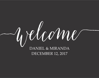 Welcome Personalized for your Wedding Day