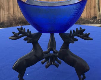 Vintage Stag-Buck-Reindeer Bowl/Plate Holder