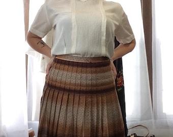 1940's Pleated Plaid Skirt