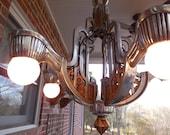 Vintage Art Deco Chandelier Lighting