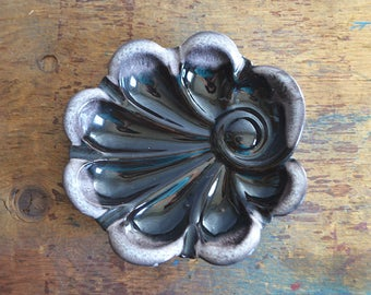Vintage Ceramic Ashtray Abstract Leaf or Shell Shape