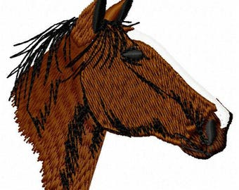 Horse Head Machine Embroidery Design - Instant Download