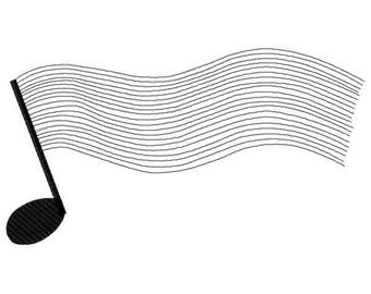 Musical Note Machine Embroidery Design - Instant Download