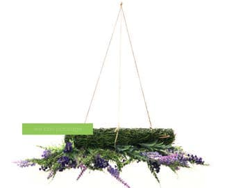 Artificial Lavender Floral Chandelier - Whimsical Wedding Decoration - Chic Special Events