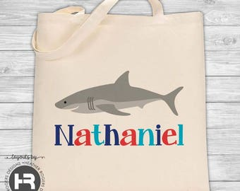 Shark tote bag | Etsy