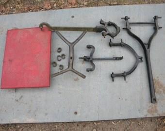vintage antique iron brass FAIRBANKS counter top PLATFORM SCALE parts