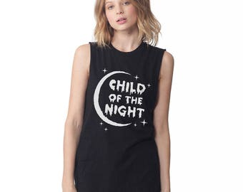 Goth Party Tee - Child of the Night Unisex Sleeveless T Shirt