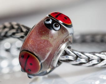 Small Core Ladybug Luck Artisan Bead SRA Lampwork Beads BHB
