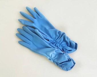 Vintage Periwinkle Blue Hansen Gathered Gloves