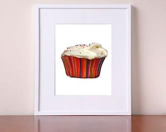 Cupcake Bakery Decor - Sprinkles - Bakery Decor - Giclee Print