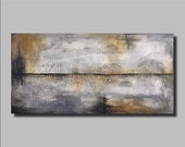 LARGE Original Abstract Painting on Wood Panel, Large Wood Wall Sculpture, Distressed Wood Art,Texture Painting, Modern Wall Art, 24 X 48