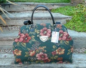 Carpet Bag, Mary Poppins Bag, Weekend Overnight Bag, made to order bag in various fabrics.