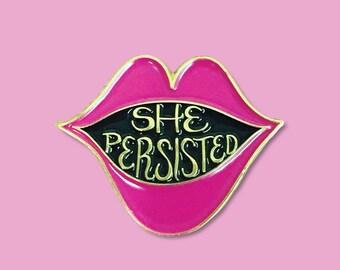 She Persisted Enamel  Lapel Pin