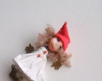Brooch doll - Doll-brooch Dancing - Handmade - Brooch girl- funny doll brooch- OOAK - Brooch
