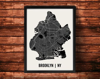 Brooklyn Map Art Print | Brooklyn Print | Brooklyn Art Print | Brooklyn Poster | Brooklyn Gift | Wall Art