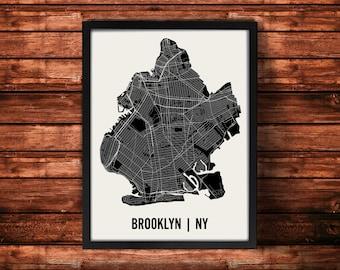 Brooklyn Map Artwork | Map of Brooklyn | Brooklyn New York Map | Brooklyn City Map | Brooklyn Poster | Brooklyn Wall Art Print