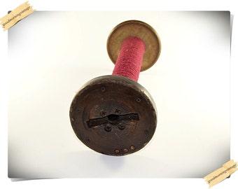 Large Industrial Wood Textile Spool