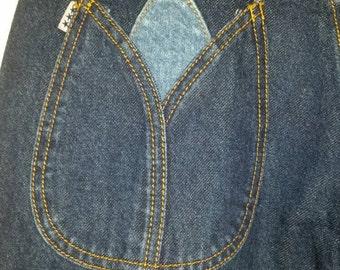 Unusual vintage flared jeans. 'Gentle Folk' Size UK 10 short