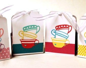 Tea Bag Holder Favors  x4  (no contents)