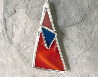 Unique Stained Glass Pendant