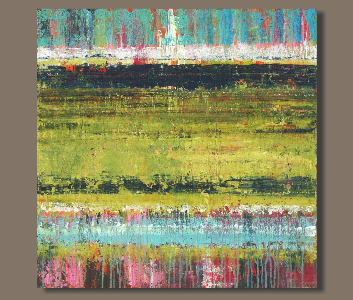 FREE SHIP large abstract painting Rothko inspired modern art