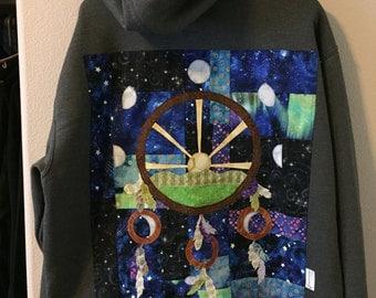Sacred Geometry Dreamcatcher hoodie XL