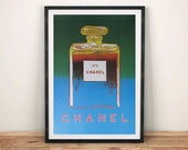 CHANEL No.5 POSTERS Andy Warhol Pop Art Perfume Advert Art Prints