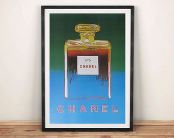 CHANEL No.5 POSTERS: Andy Warhol Pop Art Perfume Advert Art Prints