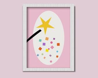 Fairy Wand, Fairy Inspiration, Little Girl's Gift, Printable
