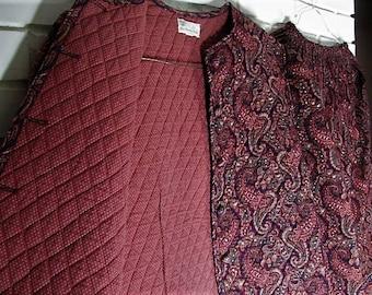 Vtg Vera Bradley jacket and skirt set size S-M waist 14-18''