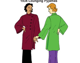 RH1326 — 1934 Lounging Pyjamas