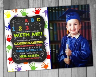 Graduation Announcement Graduation Invitation Graduation Invites Kindergarten Graduation Preschool Graduation Graduation Party Invitation