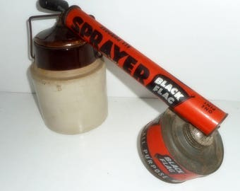 VIntage Bug Sprayer, Vintage Advertisment, Black Flag Sprayer,
