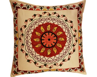 Hand Embroidered Suzani Pillow Cover msp796, Suzani Pillow, Suzani Throw, Boho Pillow, Suzani, Decorative pillows, Accent pillows