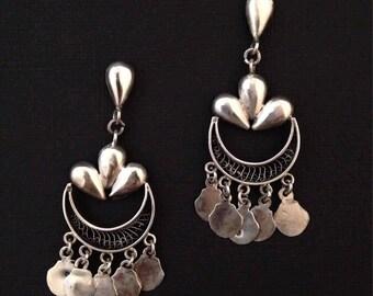 Vintage sterling chandelier earrings