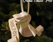 Made to Order Quilled Peace Dove Believe Christmas Tree Holiday Ornament Bird Christian Religious