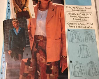 Blazer, tailored jacket, sewing pattern,  Size 4-22