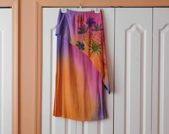 Awesome Hand Painted Summer Skirt - Great Colors, Great Style, Great Look