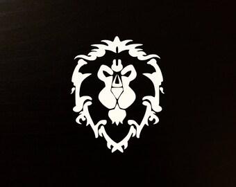 Alliance Symbol WoW World of Warcraft Decal | Sticker | Vinyl | Car, Wall, Window or Laptop Decoration | Lion