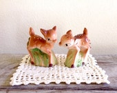 Doe Figurines - Deer Figurines - Set of Doe Figurines - Salt and Pepper Shakers - Baby Shower Gift - Woodland Animals