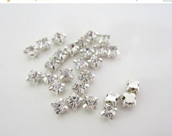 Sale 3mm Sew on Glass Rhinestones. 3mm glass Buttons.  150 Pcs