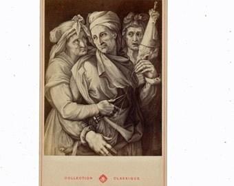 Museum Art cabinet card V D Werff Ste Madeleine 1800s 19th century Grand Tour albumen