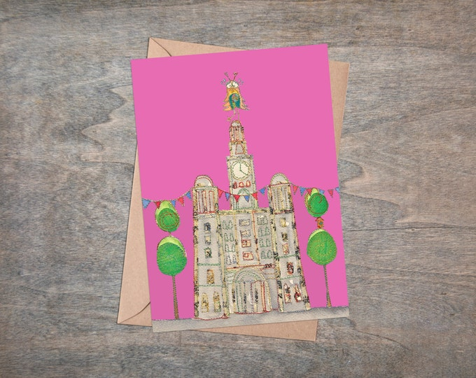 Liver Building - Liverpool Waterfront - Liver Bird - Liverpool - Greetings Card - Blank Card