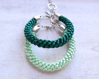 Braided Satin Cord Bracelet