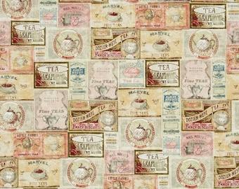 Clothworks - Tea Time - Labels - Multi Pastel