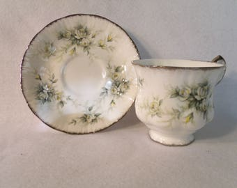 "Vintage Teacup and Saucer, Paragon Fine China ""First Love"""
