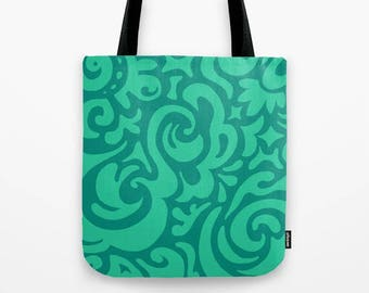 Tote bag - Tidal in blue, green or pink