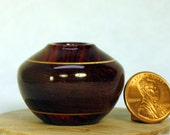 Mgurure and Coco Bolo Turned Wood Miniature Pot